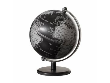 emform Mini-Globe Ø13cm Gagarin - noir/mat/H 17cm / Ø 13cm