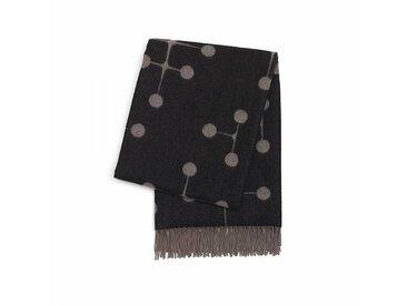 Vitra Dot Pattern Eames - Couverture en laine - gris chaud/noir/100 % agneline marino/200x135cm/méthode de tisser Jacquard