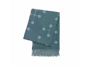 Vitra Dot Pattern Eames - Couverture en laine - bleu clair/100 % agneline marino/200x135cm/méthode de tisser Jacquard