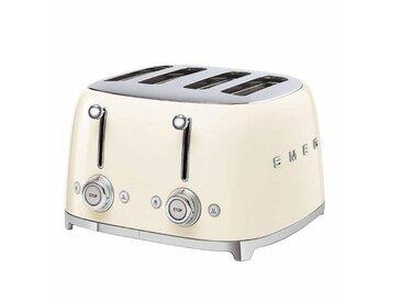Smeg Grille-Pain 4 tranches TSF03 - crème/laqué/2x 6 niveaux de brunissement/LxHxP 32x20x30cm
