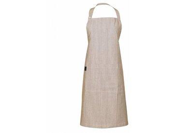 Linum Emma - Tablier de cuisine - taupe rayé/H x B: 90 x 70cm