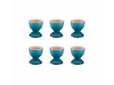 Le Creuset - Set de 6 coquetiers - bleu marseille/brillant