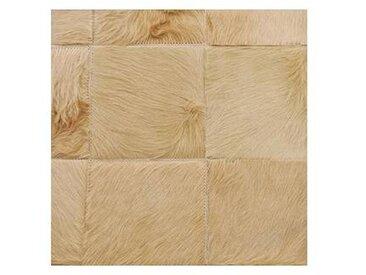 Q5 - Tapis peau patchwork - beige/peau de vache/200x200 cm