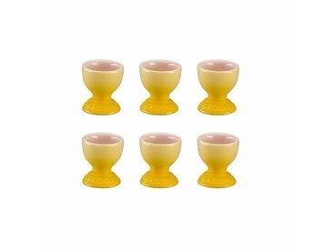Le Creuset - Set de 6 coquetiers - jaune citrus/brillant