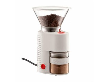 Bodum Moulin à café électrique Bistro H 27,5cm - crème/PxHxP 17,8x27,5x16,3cm