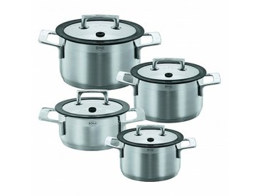 Rösle Set de 4 casseroles Silence - inox/noir/Casserole 20 cm/casseroles 16 cm, 20 cm, 24 cm
