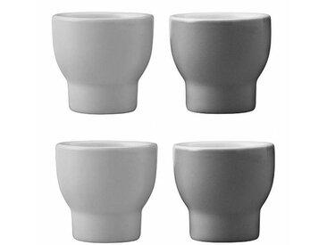 Stelton Set de 4 coquetiers Emma - gris/LxPxH 5x5x4,5cm