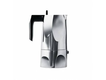 Alessi Ossidiana - Cafetière d' Espresso moyen - aluminium/Poignée et pommeau en résine thermoplastique/max. capacité 15 cl