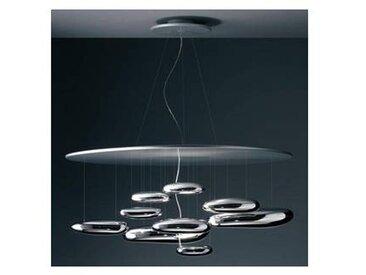 artemide Mercury Sospensione LED - Suspension - chrome/brillant/H 62cm / Ø 110cm/3000K/3094lm/CRI=90