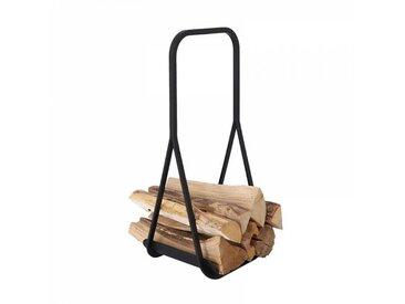 Jan Kurtz Panier pour bois de chauffage Frame - noir/revêtu par poudre/lxHxP 28x63x25cm