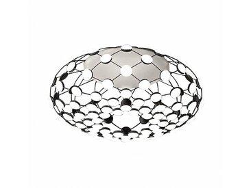 Luceplan Mesh D86 LED - Plafonnier - noir/H 32cm / Ø 72cm/H 32cm/Ø 72cm