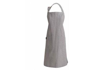 Linum Emma - Tablier de cuisine - anthracite rayé/H x B: 90 x 70cm