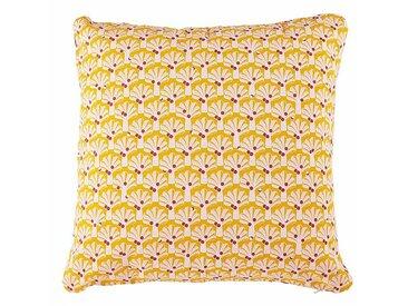 Fermob Coussin d'extérieur Envie D'Ailleurs Cocotiers - miel/100% coton/lxH 70x70cm/résistant aux UV