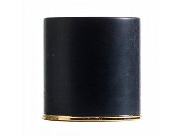 Opinion Ciatti Butoir de porte Fermaporte - noir/marbre noir de Carrara/H 10cm / Ø 10,5cm/bague en acier or 24K