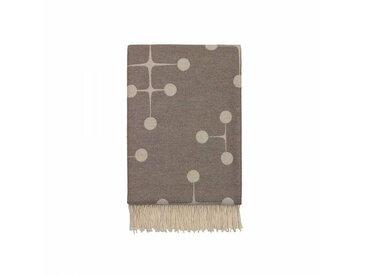 Vitra Dot Pattern Eames - Couverture en laine - taupe/100 % agneline marino/200x135cm/méthode de tisser Jacquard
