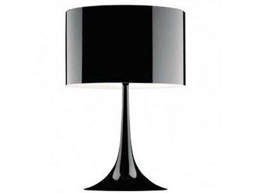 flos Spun Light T2 - Lampe de Table - noir/brillant/abat-jour blanc mat à l' intérieur