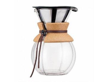 Bodum Cafetière Pour Over 1,0l - liége/PxHxP 16,5x22x14cm/8 tasses