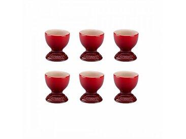 Le Creuset - Set de 6 coquetiers - cerise/brillant