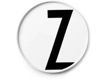 Design Letters - Assiette en porcelaine Z - blanc/Ø: 20cm