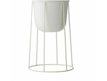 Menu Pot à fleurs avec cadre Wire 40cm - blanc/revêtu par poudre/H 40cm, Ø 23cm
