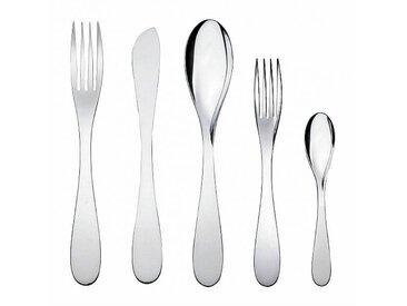 Alessi Eat.it - Service de 24 couverts - inox/poli/6 couteaux/6 fourchettes/6 cuillères à soupe/6 cuillères à café