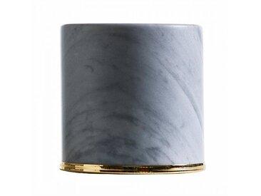 Opinion Ciatti Butoir de porte Fermaporte - gris/marbre gris de Bardiglio/H 10cm / Ø 10,5cm/bague en acier or 24K