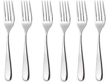 Alessi Nuovo Milano- Set de 6 fourchettes de table - acier inoxydable/brillant poli/L 19,5cm