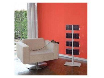 radius CD-arbre - Étagère murale petite - argent/8 rayon/LxPxH 30.4x12x90.5cm