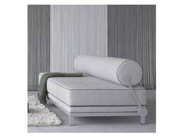 softline Sleep Day Bed - Canapé-lit - gris clair/bord de cordon gris clai/étoffe Vision 445/LxPxH 204x90x73cm/structure girs