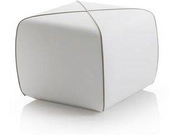 b line Crossed - Pouf de jardin carré - blanc/polyester TX001/100x50x40cm