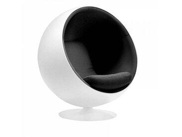 Adelta Ball Chair - Fauteuil Ballon ou Globe - noir/Tonus 128/coque blanche