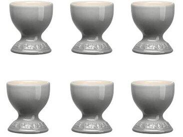 Le Creuset - Set de 6 coquetiers - gris/brillant