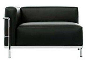cassina LC3 Méridienne - Fauteuil accoudoir gauche noir - graphite/cuir scozia 13X606/structure chromé/PxHxP 99x62x73cm