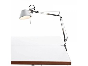 Artemide Tolomeo Micro LED - Lampe de bureau - aluminium/poli/anodisé/avec pince pour table/3000K/461lm/CRI=90
