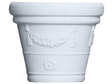 Serralunga Pot à fleurs Decorati Festonato 965 - blanc/H 55cm x Ø 65cm