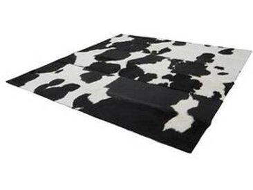 Q4 - Tapis peau sans bordure - noir-blanc/peau de vache/200x200cm