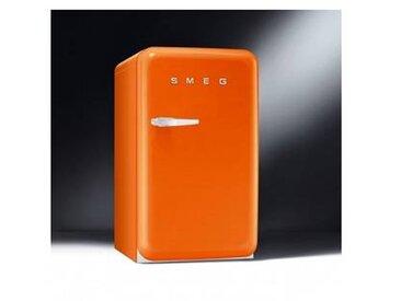 SMEG Réfrigérateur avec congélateur FAB10 - orange/laqué/charnière de porte droite/LxHxP 54,3x96x68cm