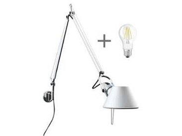artemide Set promo Tolomeo Parete + LED - aluminium/poli/PxH 81x67cm/avec fixation murale/ampoule LED gratuitement