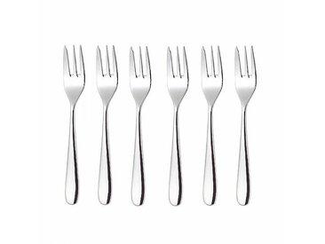 Alessi Nuovo Milano - Set de 6 fourchettes à gâteaux - inox/brillant poli/L 16 cm