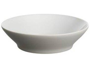 Alessi Tonale - Set de 4 assiettes creuses - gris clair/céramique/Ø 18.5cm