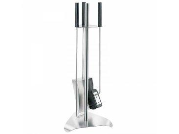 Blomus Chimo - Serviteur de cheminée 4 pièces - acier inoxydable/PxHxP 24x67x26,5cm
