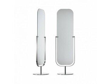 Cappellini - Miroir sur pied - miroir/nickel satiné/44x39x152cm