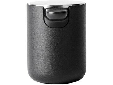 Menu Distributeur de savon liquide Bath Series - noir/revêtu par poudre/H 11cm / Ø 8,5cm / 300ml