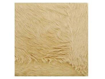 Q3 - Tapis peau avec bordure peau - beige/peau de vache/200x200cm