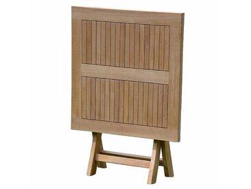Jan Kurtz Table pliante/table de balcon Town - naturel/teck certifié fsc/PxHxP 120x75x70cm