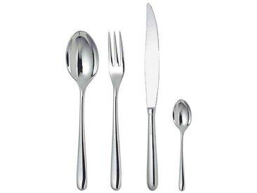 Alessi Caccia - Service de 24 couverts - acier inoxydable/poli/6 couteaux(bloc-cylindre)/6 fourchettes/6 cuillères à soupe/6 cuillères à thé