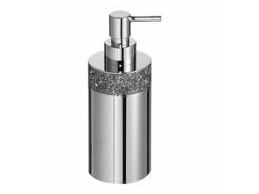 Decor Walther Distributeur de savon Rocks SSP 1 - chrome/brillant/H 17,5cm / Ø 6,5cm/avec cristaux Swarovski®