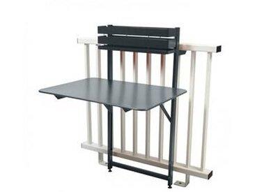 fermob Bistro - Table de Balcon - gris orage/mat granulaire/pliant/77x57x115cm