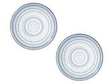 iittala Kastehelmi - Lot de de 2 assiettes - bleu d'eau/Ø 17cm