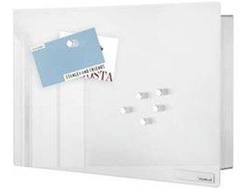 blomus Velio - Boîte à clés/ Tableau magnétique 30x20cm - blanc/acier inoxydable/PxHxP 30x20x5cm/comprend 6 aimants